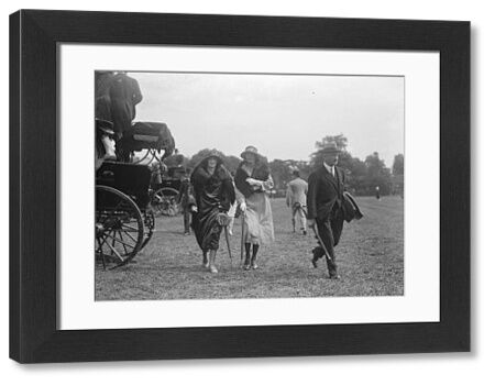 Watching the Polo at the Hurlingham Club, the Champion Cup semi - finals - the Marchioness Camden and friends.  1922