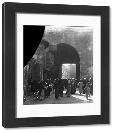 The Bab al - Zuweila gate in Cairo, the famous medieval gateway.  25 November 1924