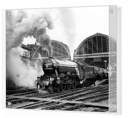The last Flying Scotsman run to Edinburgh.  The Flying Scotsman steam locomotive sets off from King's Cross Station, London to attempt a non-stop run to Edinburgh.  1 May 1968  vintage stills archive picture library stock photographic