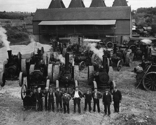 Agricultural Machinery : Mr Chris Lambert, of Horsmonden, Kent, was a steam haulage contractor