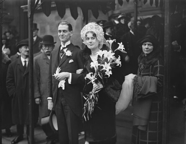 American bride for former Bulgarian Minister 's son.  The marriage took place at Brompton Oratory of Mr Ivan Stancioff with Miss C M Mitchell.  Bride and bridegroom.  17 February 1925