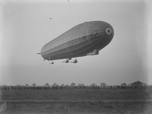 American Crew in training in England to take home the British built biggest airship in the world R 32  30 October 1920