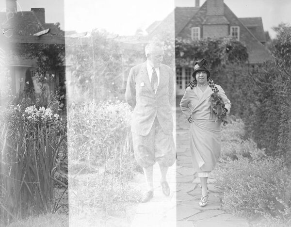 "American tenant for Lord Dudley 's beautiful villa at Le Touquet.  Mrs Alexander McKay and American lady who has rented from Lord Dudley his beautiful villa the "" Chalet Dubois "" at Le Touquet.  26 July 1924"
