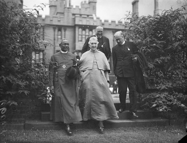 The Archbishop of Canterbury Dr Cosmo Gordon Lang, gave a reception to missionaries at Lambeth Palace