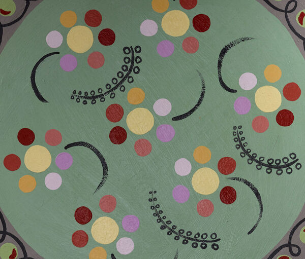 Bloomsbury Group inspired designs. Artist: Angie Shrubsole-Brett 2015 inspired by the art and design at Charleston, Firle, country home and centre of the Bloomsbury artists