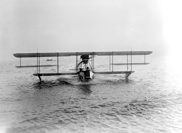 Curtiss' Flying Boat at Brighton.  1913