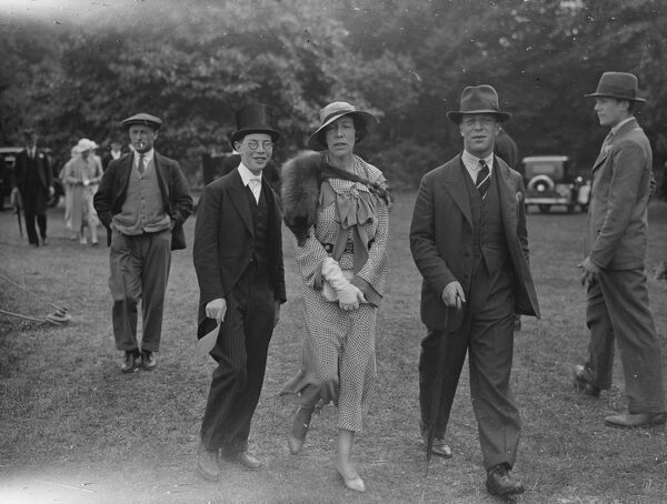 Eton versus Winchester   left to right   Hon Anthony Samuel, Lady Bearsted, and Hon Anthony Samuel  30 June 1933