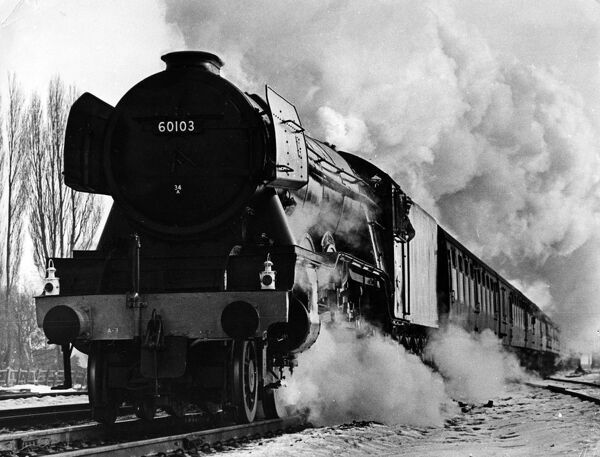 The Flying Scotsman on its last journey when it pulled the 1