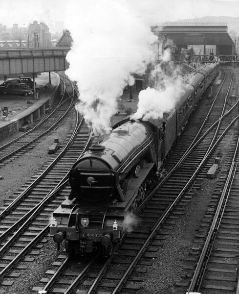 The Flying Scotsman steam train  1960s vintage stills archive picture library stock photographic