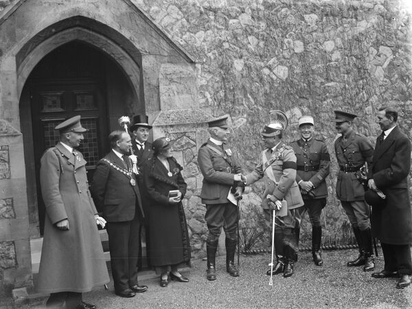 The Gallipoli Service in Eltham, Kent.  1936