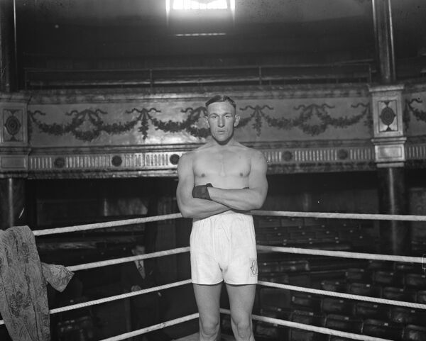 Well known boxer.  Charlie Smith of Deptford.  1 March 1929