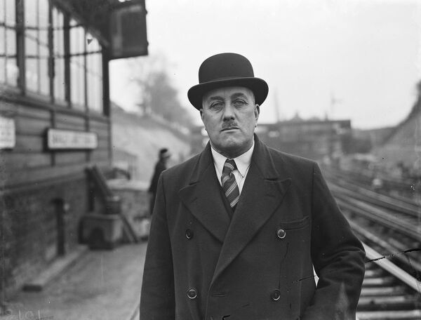Mr Gutbush, The Swanley Station Master.  1938