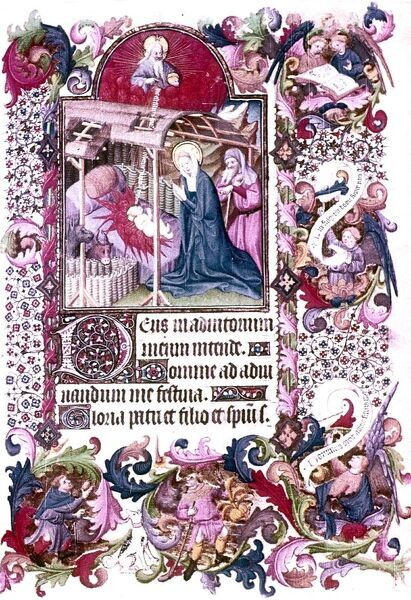 Nativity and Adoration. Book of Hours, French 1407