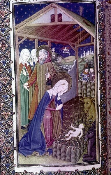 The Nativity. Book of Hours believed to have belonged to Henry VII and Henry VIII. French, Normandy, c.1430-1430