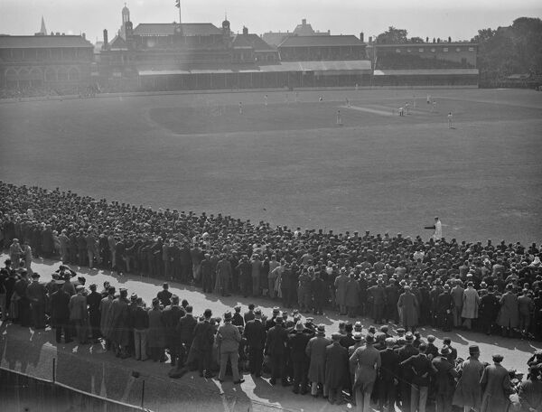 A panoramic view of the Oval during the 1930 test match   16 August 1930 History of London - Vauxhall / Lambeth