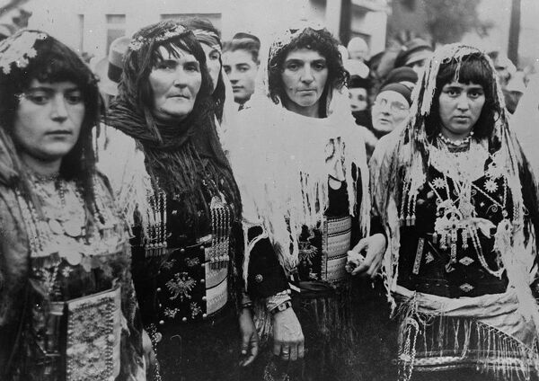 Peasant women celebrate 25th anniversary of Albanian independence