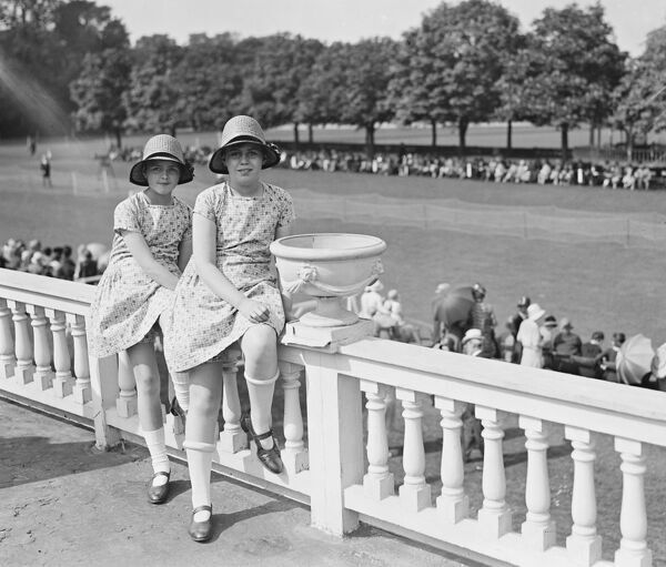Polo at Ranelagh.  The Misses Jane and Marjorie Leveson.  30 May 1928