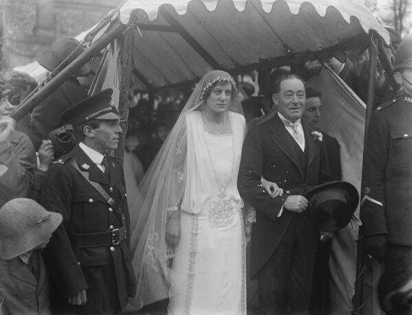 Prince 's Equerry weds.  The Prince of Wales 's Equerry ( extra ) Captain Dudley North, of HMS Caledon, married Miss Eileen Graham, of Forston House, near Dorchester, in St Mary 's Church, Charminster.  Bride and bridegroom.  15 November 1923