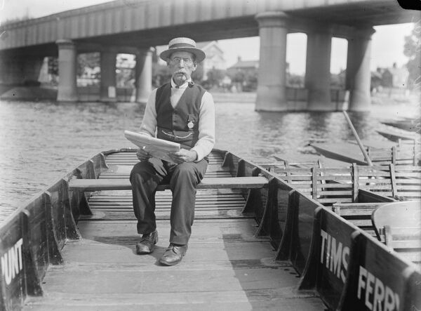 Remarkable reward of the oldest waterman  Tom McKinney, the oldest waterman in Staines, competed in the veterans race at the Staines and Egham Waterman 's Regatta. He has won many prizes, including DOggett 's Coat and Badge in 1871  21 August 1925