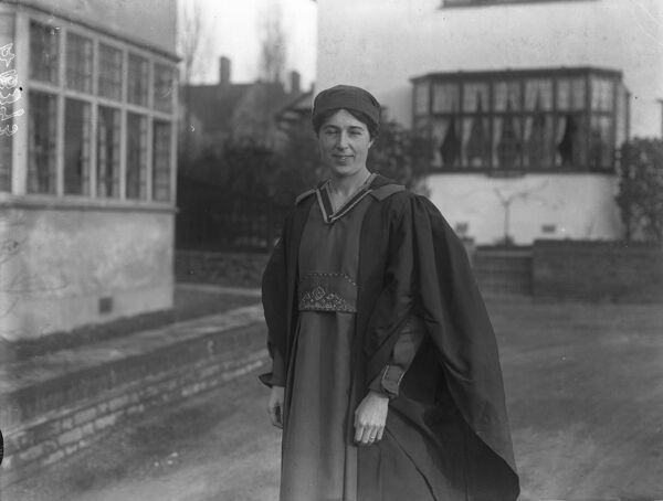 The Reverend Constance Coltman, who is joint minister with her husband, the Reverend Claud Coltman at the Congregational Church, Maida Vale,   30th December 1921