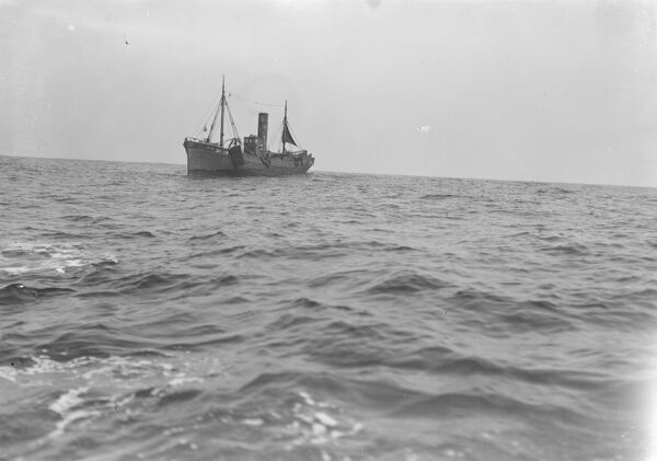 A Scarborough herring trawler in the north sea  1931 Fish where the fish are!