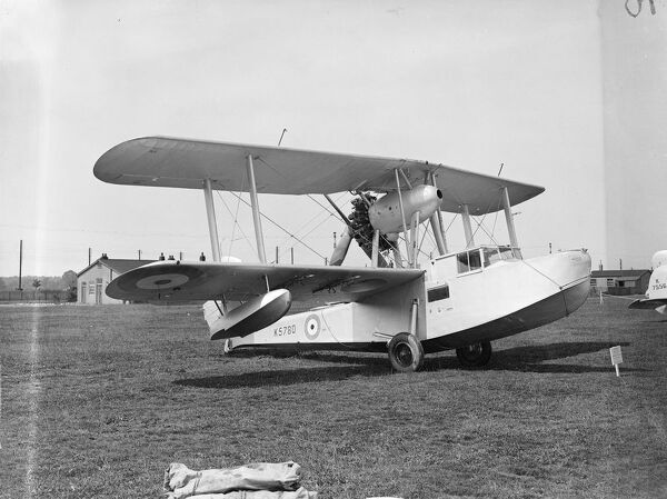 Vickers Supermarine ' Walrus ' Amphibian Flying Boat with a Bristol Pegasus engine .   Walrus is a single engined ( pusher ) biplane amphibian flying boat constructed almost entirely of metal , stainless and duralumin , the hull is flush riveted