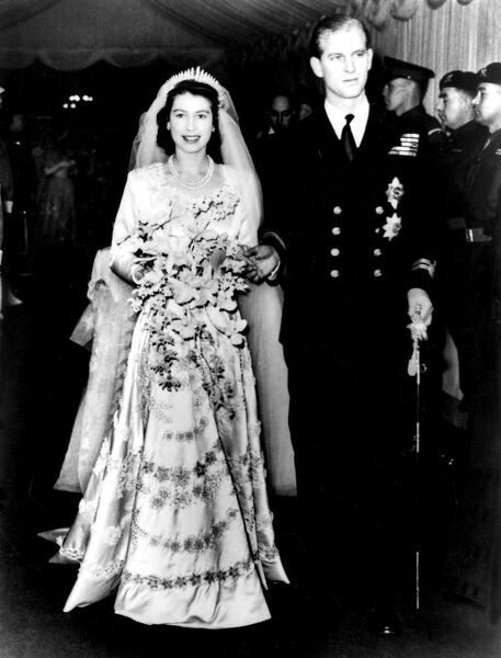 The wedding of Princess Elizabeth (now Queen Elizabeth II) and Prince Philip - 20th November 1947