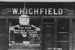12 September 1904 W. Highfield's Dining and Supper Room offered a cut from the