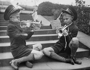 187 brass bands competing at Crystal Palace. 29 September 1934