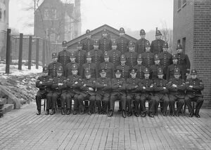 1940 Police squadron at Shooters Hill, Kent, England