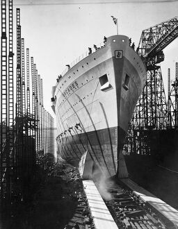 The 31,000 ton liner Orcades, built for the Orient line by Vickers, Armstrong Ltd