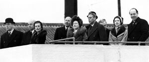 31 January 1952 King George VI and Queen Elizabeth watch the take-off of the plane