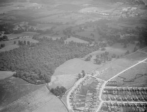An aerial view of Footscray Place and North Cray Estate in Kent. 1939