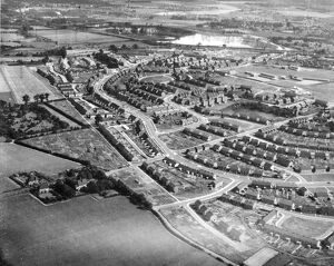 Aerial view of the Joyce Green, Temple Hill Estate, Dartford, Kent. 18 December 1958
