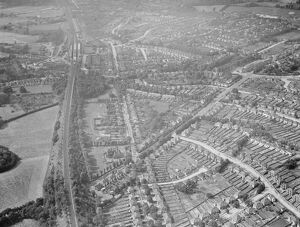 An aerial view of Orpington, Kent. 1939