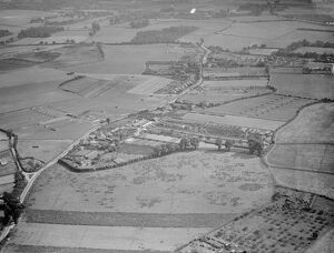 An aerial view of Tripe Farm in St Mary Cray, Kent. <br> 1939
