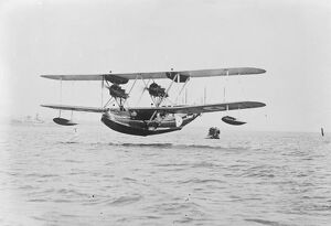The air ministry ' s latest monster flying boat The ' Southampton ' flying