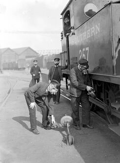 Air Raid precautions. Training for Southern Railway employees, at Vauxhall