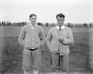 Amateur Golf Championship at Deal, Kent. Left to right ; Francis Ouimet ( USA )