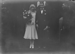 Amateur international married. Edgar Kail was married at St John ' s Church