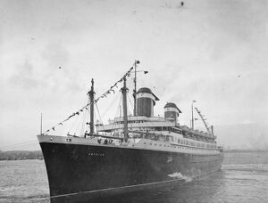 The 'America', the largest and fastest liner ever built in the United States