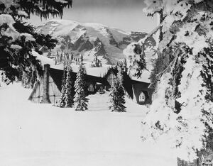 America 's record winter. A photograph from Rainier National Park, Washington