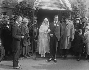 American bride for Lord Northbourne 's son. The wedding took place at Christ Church