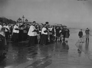 The ancient custom of blessing the sea at Rogationtide was revived at St Leonard's
