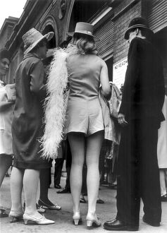 Ascot style. A policeman gives information to ladies attending the races June 20th 1967