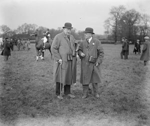 The Bar Point to Point races at Greenford Green. Judge Sturges ( right ), Charles Sibley