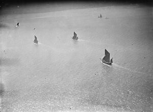 Barge race. aerial view. 1935