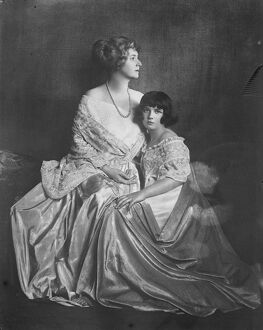 The Baroness Lucy Morpurgo, with her daughter. Fashion leader who makes and designs
