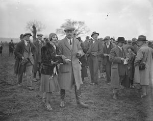 Beaufort Hunt point to point at Hazelton. Mrs Dudley Ward and Lord Dudley. 1