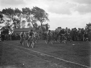 Bike racing at Swanley fete. 1936